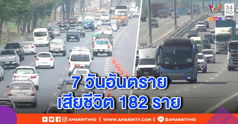 7 วันอันตราย ปีใหม่ 2562 ยอดอุบัติเหตุ 3 วัน 1,633 ครั้ง เสียชีวิต 182 ราย ขอนแก่นสูงสุด