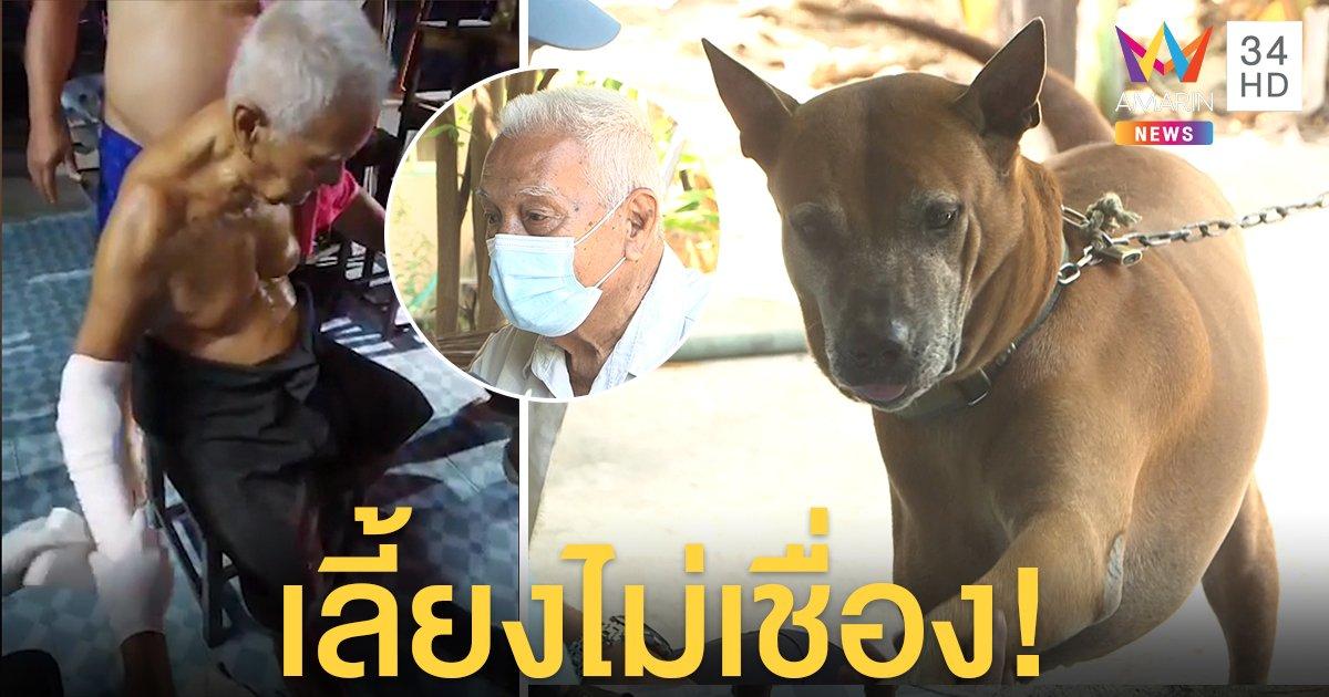 ระทึก! ตาให้ข้าวหมาโดนขย้ำ กลั้นใจล็อกคอสู้ พบประวัติกัดคนทั้งบ้านขอคนรับเลี้ยง (คลิป)