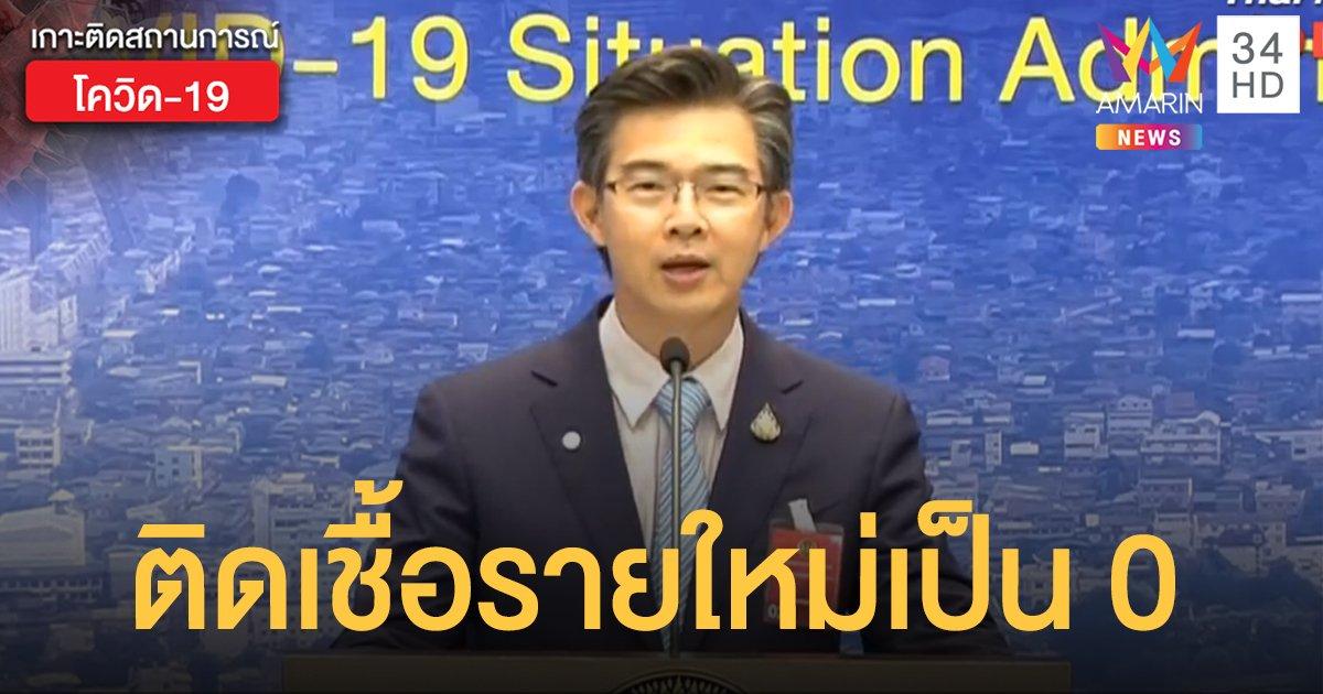 สถานการณ์แพร่ระบาดโรคโควิด-19 ในประเทศไทย 16 พ.ค. ไม่พบผู้ติดเชื้อรายใหม่ ไม่มีตายเพิ่ม