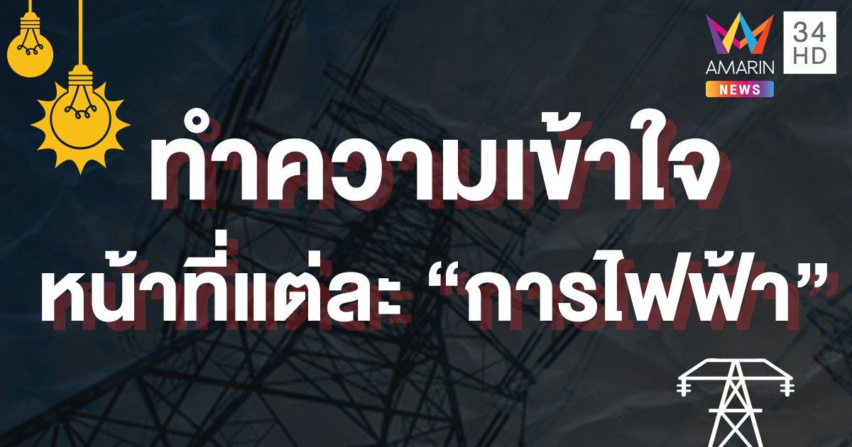 """เปิดหน้าที่หลัก 3 """"การไฟฟ้า"""" ในประเทศไทย-ใครกำหนด """"ค่าไฟ"""""""
