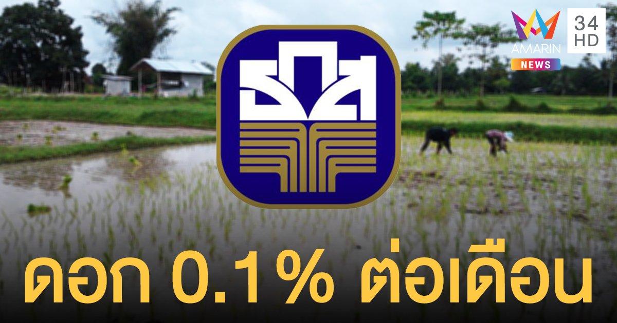 รีบเลย! สินเชื่อธกส. ปล่อยกู้ฉุกเฉินเกษตรกรรายละ 10,000 บ. ดอก 0.1% ต่อเดือน