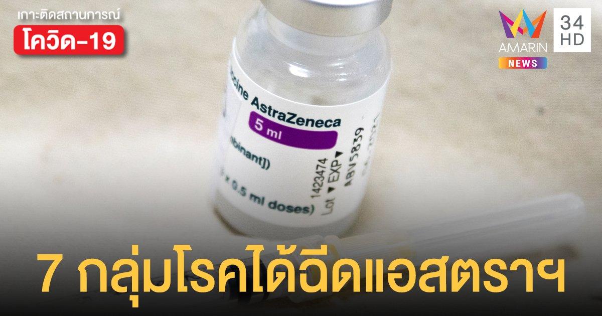 7 กลุ่มโรคที่ควร ลงทะเบียนฉีดวัคซีนโควิด 19 ของ แอสตราเซเนกา