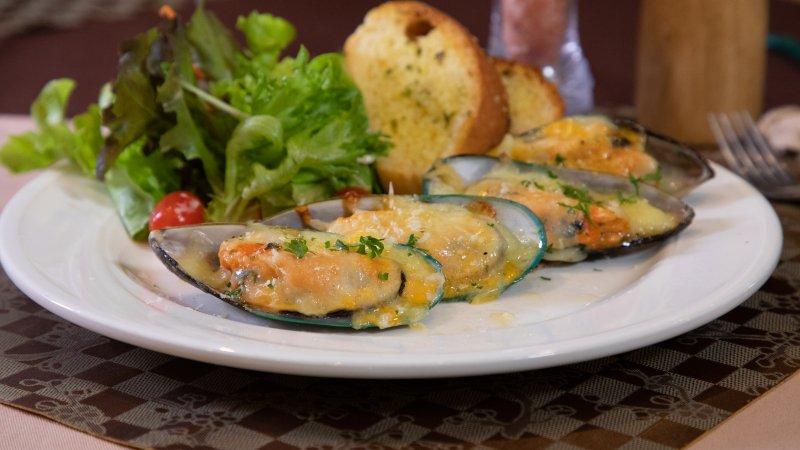 หอยแมลงภู่นิวซีแลนด์อบชีส (129 บาท)