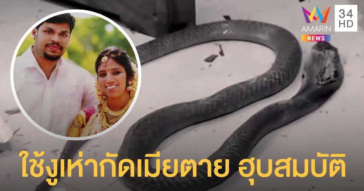 """หนุ่มอินเดียใช้  """"งูเห่า"""" ฆ่าเมียตาย ตอนหลับ หวังฮุบสมบัติ"""