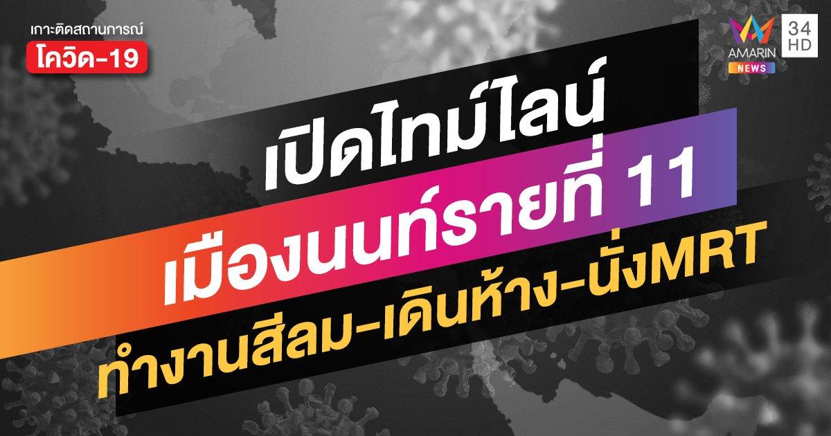 สถานการณ์โควิดล่าสุด: ไทม์ไลน์ผู้ติดเชื้อรายที่ 11 นนทบุรี ทำงานสีลม เที่ยวตลาด เดินอิเกีย เลือกตั้ง