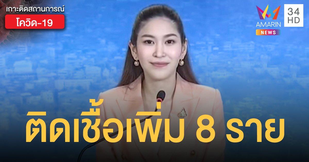 สถานการณ์แพร่ระบาดโรคโควิด-19 ในประเทศไทย 7 มิ.ย. ป่วยใหม่ 8 ราย
