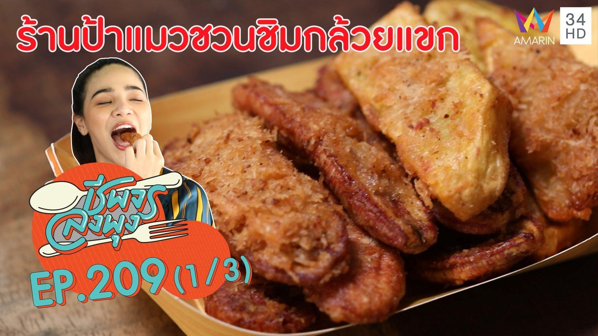 """กล้วยแขกกรุบกรอบอร่อย! @""""ร้านป้าแมวชวนชิมกล้วยแขก""""   ชีพจรลงพุง   28 มี.ค. 63 (1/3)   AMARIN TVHD34"""