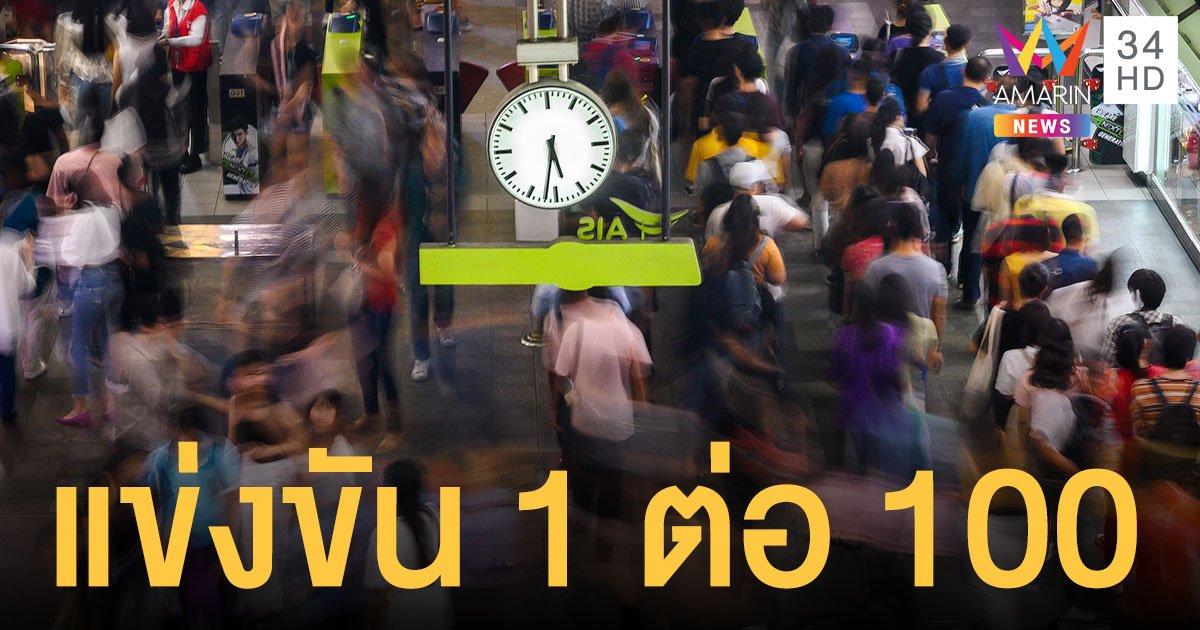 คนไทยแข่ง หางานช่วงโควิด 1 ตำแหน่ง มีคู่แข่ง 100 ใบสมัคร