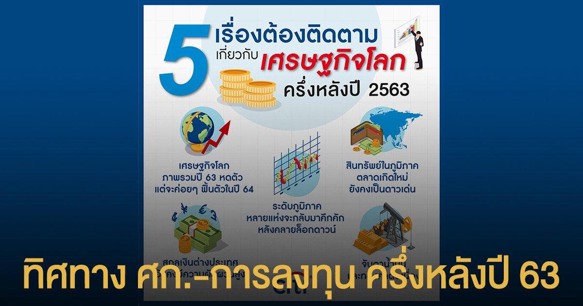 ซิตี้แบงก์ สรุป 5 เรื่องต้องติดตามเกี่ยวกับเศรษฐกิจโลกครึ่งหลังปี 2563